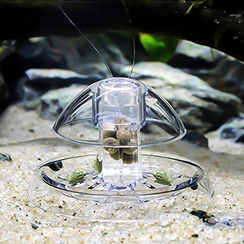Festnight Trappola per lumache in plastica Libera Esca per acquari con Serbatoio di Pesce