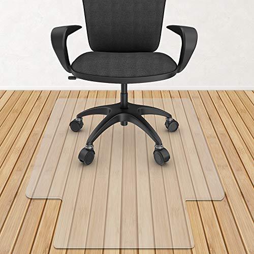 azadx transparente alfombrilla para silla, silla de computadora protector de piso para el hogar y la oficina, 91.4x 121.9cm, Transparente, 36' x 48' With Lip (For Hard Floor)