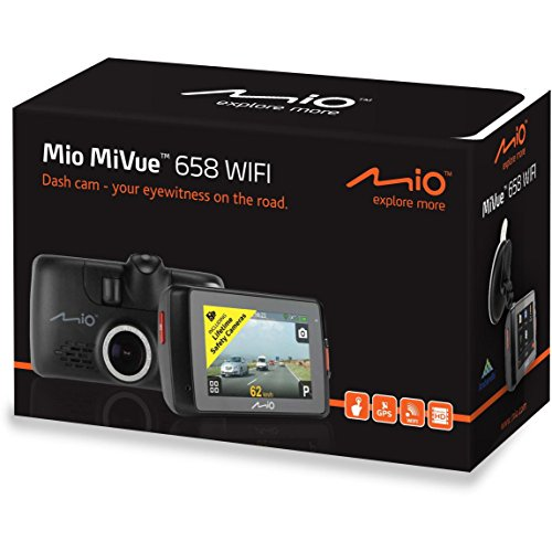 Mio MiVue 658 Touch WiFi Extreme HD TouchScreen InCarCam GPS DVR Dashcam HDR Accident Recorder & Speed Camera Detector