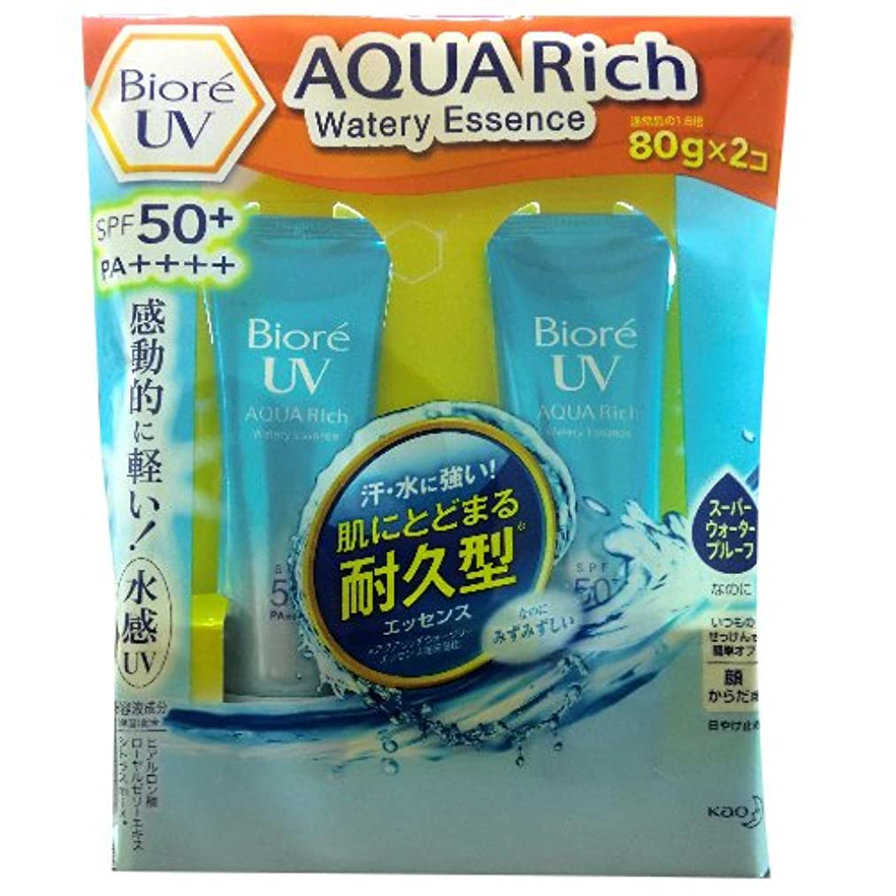 額楽しむ制限するBiore UV AQUA Rich Watery Essence 80g×2コ