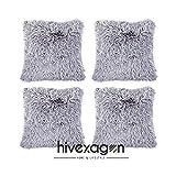 Hivexagon Soft Plüsch Kissenbezug, Kissen Fällen Sofa Taille Throw Kissen Cover Kunstfell...