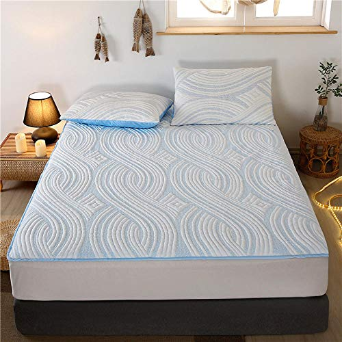 GTWOZNB Microfibre Flat Sheet - Luxurious No-Iron Bed Sheet is Breathable, Waterproof bed sheet single piece urine-blue_200*220cm