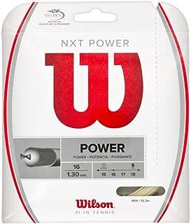Wilson NXT Power 16 Gauge Multifilament Tennis String in Multi-Packs (2-4-6-8-Packs)