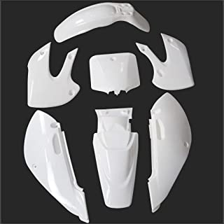 White body kit for Kawasaki Suzuki KLX/DRZ 110 Motorcycle Plastic Fender Fairing