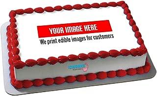 Icinginks 1/4 Sheet Edible Cake Prints - Create Your Own Custom Prints For Edible Cake Toppers - Custom Printed Cake Images - Edible Image Printing Service