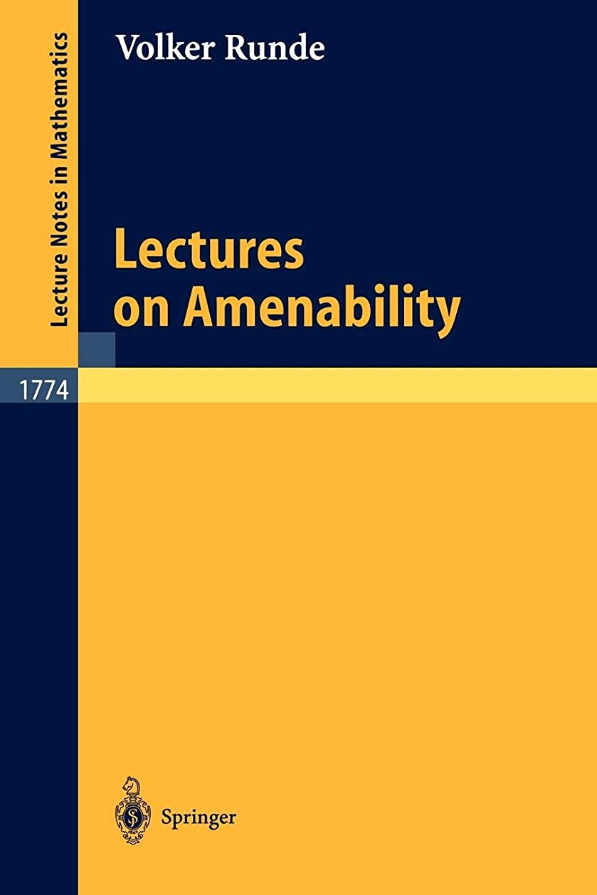 試験処方ホイストLectures on Amenability (Lecture Notes in Mathematics)
