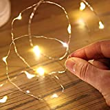 CAMARILLA Battery Operated 20 LED 3M Ferry String Light Decorationfor Diwali, Christmas Tree,Birthday Party, NYE Celebration/Copper Wire String Light (Pack of 1, Yellow)