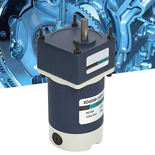 KAIBINY De imán Permanente Motor Reductor, de Alta torsión Ajustable del Engranaje del Metal de CC plazos de envío Engranajes de reducción de Motor 24V 60W (430RPM)
