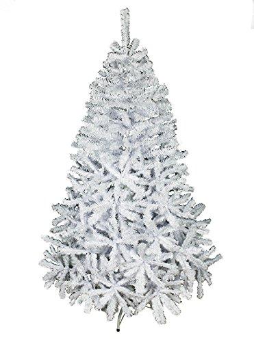 HAAC - Albero di Natale artificiale, 180 cm, con 600 rami, pieghevole, con supporto in metallo, colore: Bianco