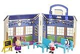 Jazwares 92608 – peppa pig – jardín infantil con accesorios, casa de juegos con 3 figuras exclusivas peppa, zoe zebra y madame gazelle – juguete original peppa para niños a partir de 2 años