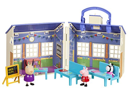 Jazwares 92608 Peppa Pig Peppa's Nursery Play Set with Accessories, Playhouse with 3 Exclusive Peppa, Zoe Zebra & Madame Gazelle Toy Figures, Original Peppa Toy House for Children from 2 Years