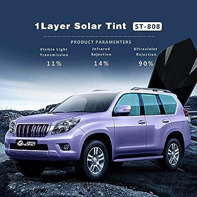Hoho VLT 11% Auto teinté UV Proof chaleur Résistent à film pour vitres de voitures