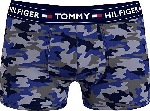 Tommy Hilfiger Herren Trunk Print Badehose, MLU/Camo/AOP/Blue, LG