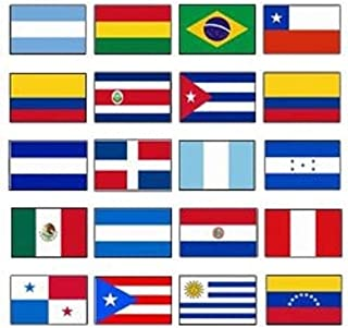 Ant Enterprises. Latin America 3x5 Flag Set of 20 Country Countries Polyester Flags Grommets