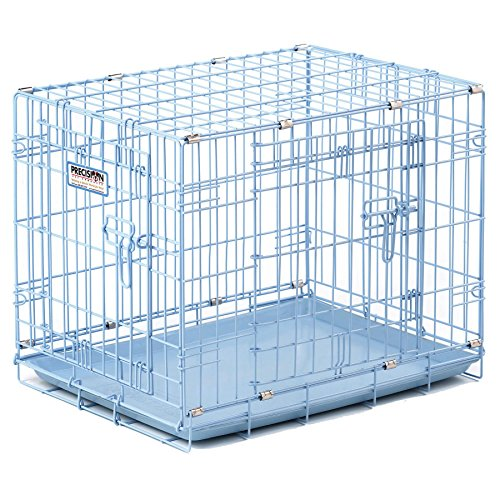 Precision Pet Snoozzy Baby 2-Door Crate, Blue AmazonPets Basic Crates Dog from Kennels products Selection Selections Supplies Top