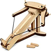 Abong Ballista Wooden Miniature Tabletop Desktop Warfare Kit - Easy Assembly and Reliable Performance - with Detailed, Full-Color Instruction Guide - 28 Pieces STEM Model Kit