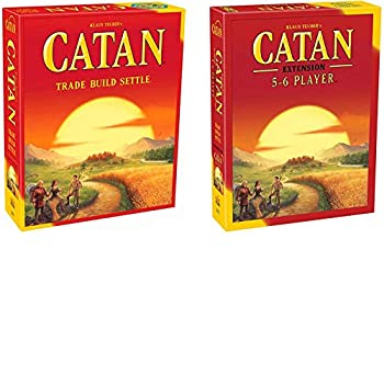 Catan 5th Edition Board Game with Catan 5-6 Player Extension Board Game Bundle