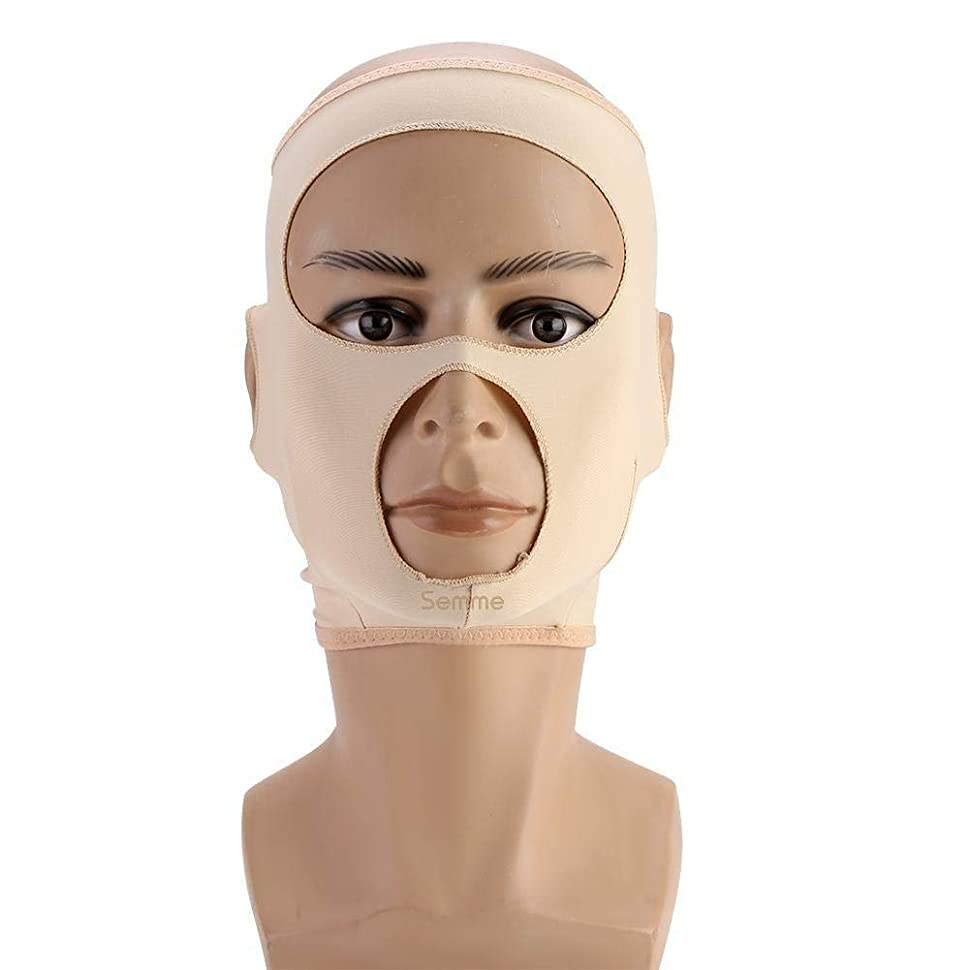 ハードリング放出泳ぐ包帯を細くする顔の細くのマスク顔の二重あごの心配の減量の表面ベルト(L)
