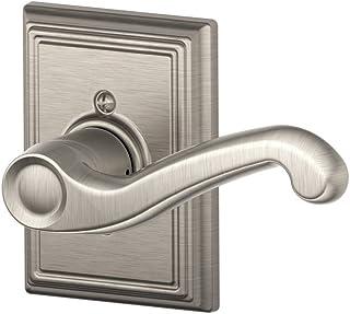 Schlage Lock Company Flair Right Handed Lever with Addison Trim Non-Turning Lock, Satin Nickel (F170 FLA 619 ADD RH)