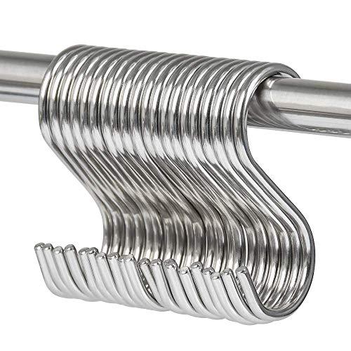 YOTINO S gancho de acero inoxidable 304 20, gancho S MiNi Small (7.5x3.5x4), armario con gancho S, gancho en forma de S para colgar el baño