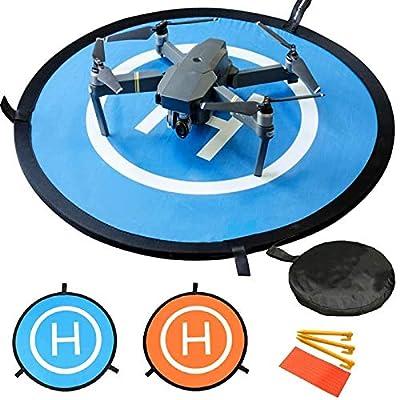 Drone Landing Pad, Waterproof Portable Foldable Helipad Helicopter Landig Mat for DJI Mavic Pro Phantom 2/3/4/ Pro, RC Drones Helicopter, Karma Drone, DJI Mavic Air, Inspire and More