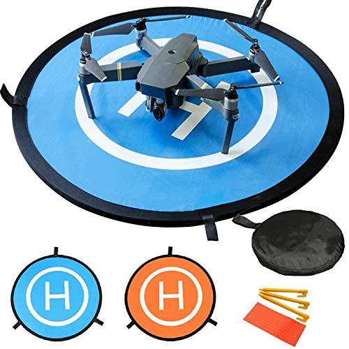 Pista de aterrizaje de drones, 30'/75cm Impermeable Helicoptero Plegable...