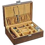 AMAFS Caja de Reloj Almacenamiento de Relojes Vitrinas de Lujo Cerradura Segura para Hombres y Mujeres Cajas de Soporte de joyería para Relojes