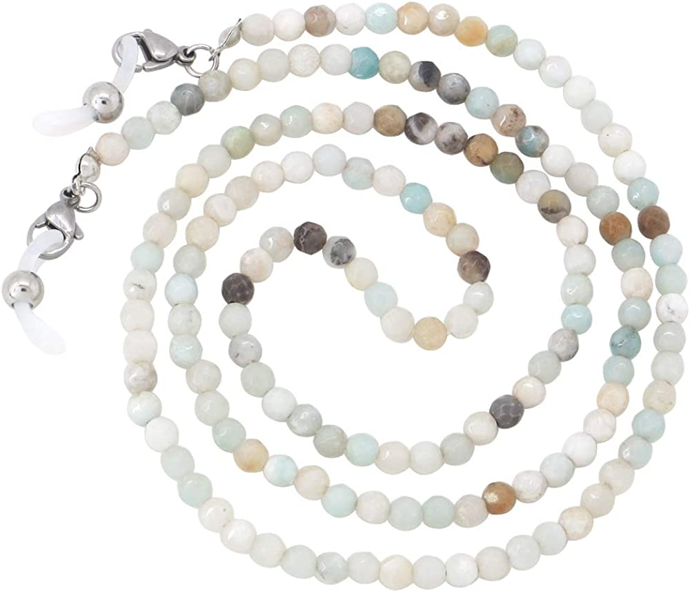 Eyeglasses Chain Sunglasses Fashion M Natural Seattle Limited time trial price Mall Beaded Stone