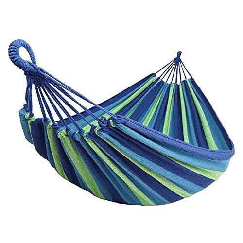 ZIFON Hamaca de lona para acampar, con diseño de rayas, para camping, viajes, picnic, patio trasero