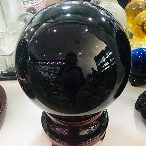 ABCABC 5cm-20cm + Pedestal Negro Natural Obsidiana Esfera Grande la Bola de Cristal de Piedra + (Size : 6cm)