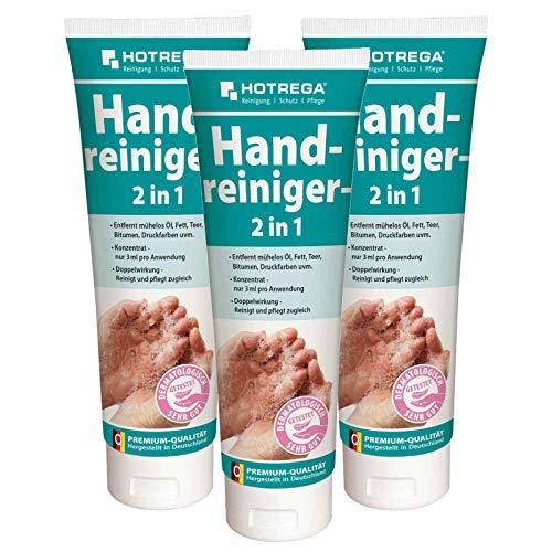 HOTREGA Handreiniger, Handwaschpaste, Handseife 2in1 250 ml Tube - Hand-Reinigung + Pflege, Mengen:3