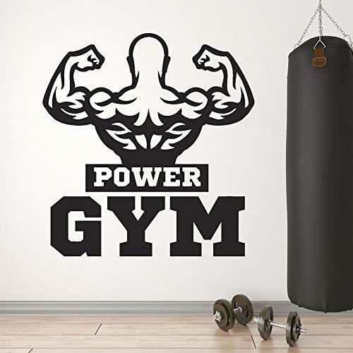 Tianpengyuanshuai krachttraining spieren mooie bodybuilder logo sticker vinyl wandtattoo