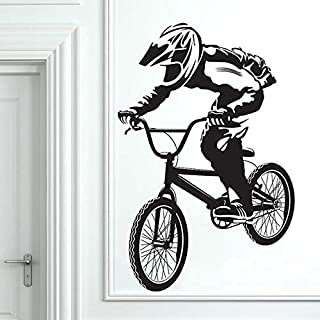 BMX Sticker Kamer Decoratie Fiets Vinyl Fiets Jongen Muursticker 57x87cm