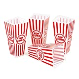 Tytroy 8 Piece Plastic Reusable Movie Theater Style Popcorn Containers Set