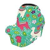 Couverture d'allaitement, couverture d'allaitement, couvertures de siège de voiture pour bébés, bébés, bébés, poussettes, canopée de siège auto pour garçons et filles