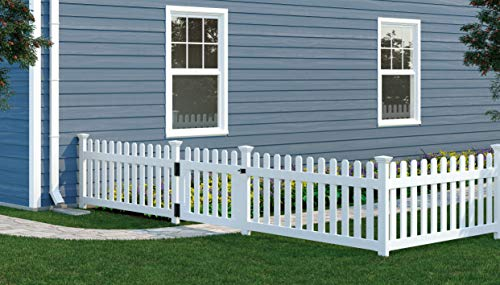 """Zippity Outdoor Products ZP19004 Newport Vinyl Picket Unassembled Gate, 31""""H x 41""""W, White (Pack of 4)"""