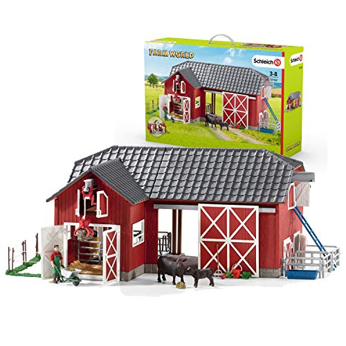 Schleich Farm World Large Toy Barn and Farm Accessories 27-piece Playset for Toddlers and Kids Ages 3-8