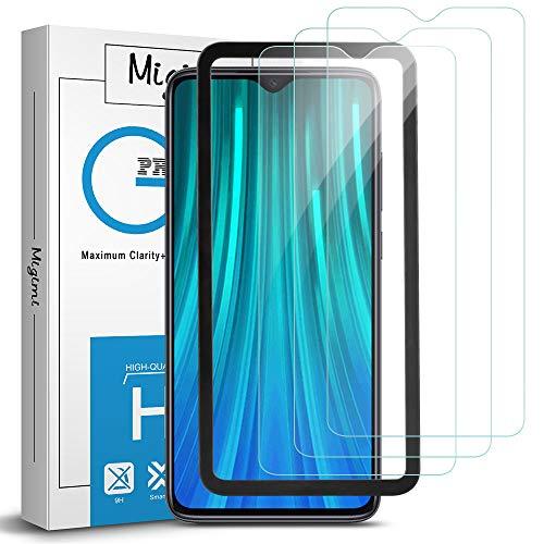 Migimi Protector Pantalla Xiaomi Redmi Note 8 Pro, [3 Pack] [Equipado con Marco de posicionamiento] Cristal Templado, [9H Dureza] [Resistente a Arañazos] Vidrio Templado Screen Protector