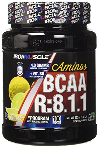 Iron Muscle Integratore Alimentare Bcaa 8:1:1, Limone- 0.70 kilograms