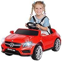 Actionbikes Motors Kinder Elektroauto Mercedes Benz Amg GLA45 - Lizenziert - Rc 2,4 Ghz Fernbedienung - Softstart - SD-Karte - USB - MP3 - Elektro Auto für Kinder ab 3 Jahre (GLA45 Rot)