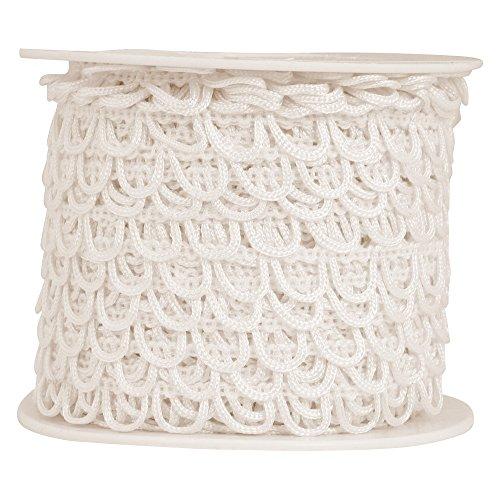 Nakpunar Non Elastic Bridal Button Loops (36', White)