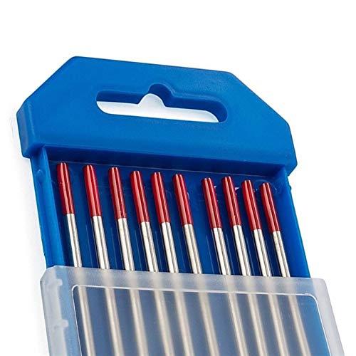 Verakee Ztengyu-Varillas para soldar Electrodos de tungsteno de 150 mm electrodos de Soldadura WT20 varas, Rendimiento Estable (Diameter : 2.4mm, Material : WT20)