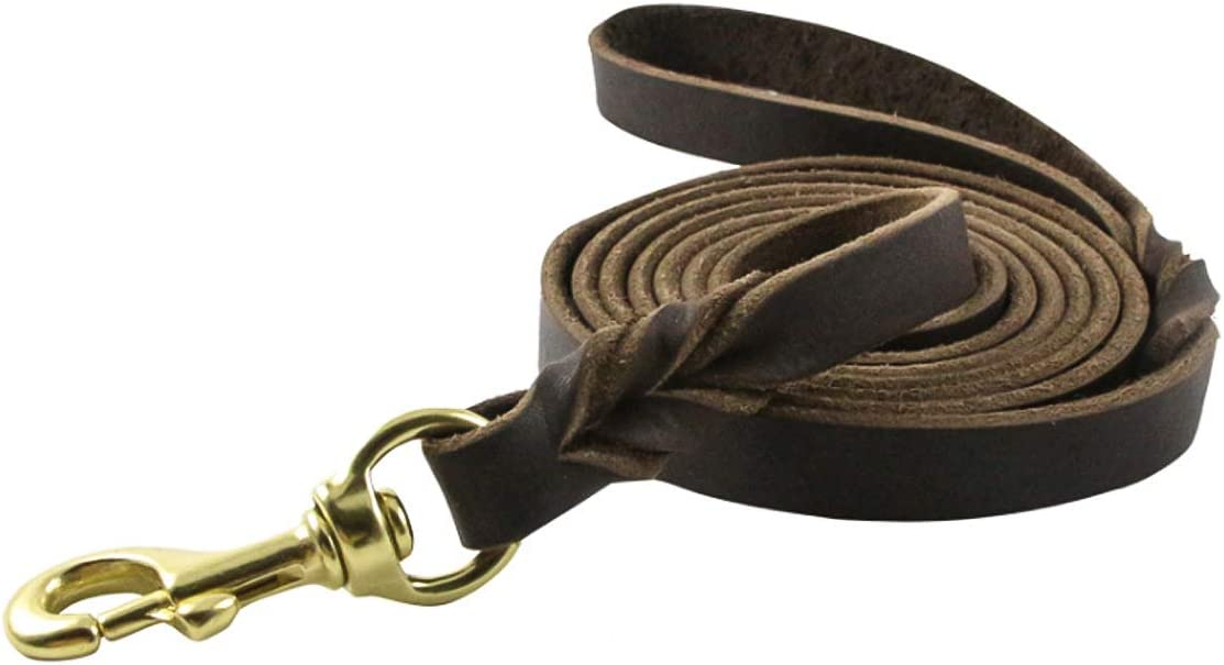 ROSEBEAR 1.2cm Dog New sales Leash Wide Heavy Leather Free shipping anywhere in the nation Braided Le Duty