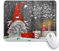 KAPANOU マウスパッド、クリスマススカンジナビアドワーフスノーギフトボックスキャンドル おしゃれ 耐久性が良い 滑り止めゴム底 ゲーミングなど適用 マウス 用ノートブックコンピュータマウスマット