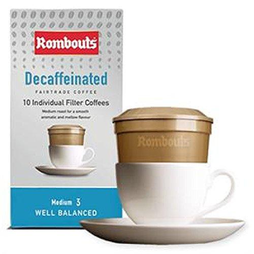Rombouts Original-Fairtrade Decafe One-Cup-filter 6 hulzen van 10