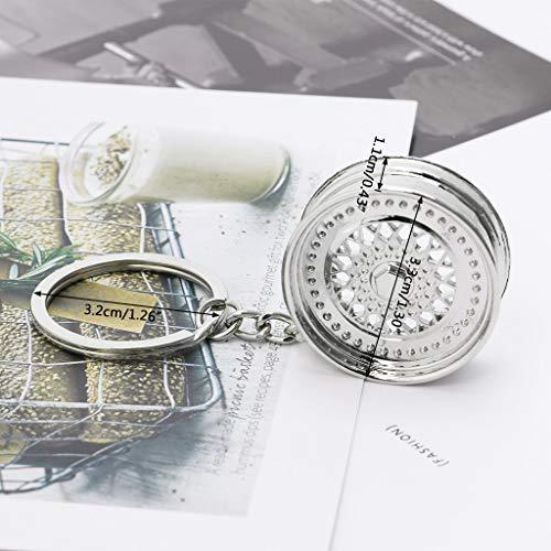 YiFeiCT Cool Luxus Metall Auto Schlüsselanhänger Rad Felge Kreatives Auto Teil Modell Schlüsselanhänger Ring