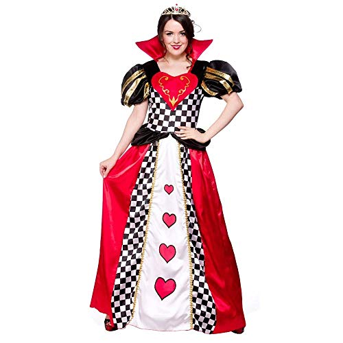 Fairytale Queen of Hearts Ladies Fancy Dress Costume Medium 42-44
