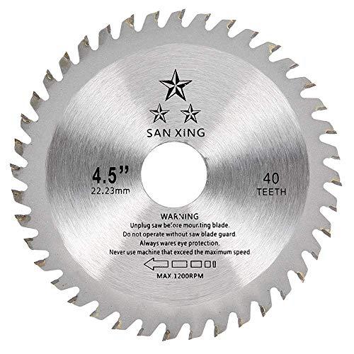 Lama per Sega Circolare per Legno Disco Smerigliatrice Taglio Legno Professionale 115 x 22,2mm x 40 Denti TCT per Smerigliatrice Angolare (1 pz)