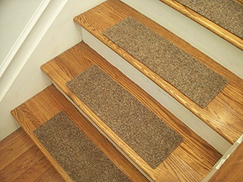 Essential Carpet Stair Treads - Style: Brush - Color: Beige Gray - Size: 24
