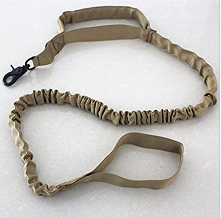 meizhouer Tactical Dog Leash Military Training Tactical Bungee Leash Combat US Amry Dog Lead Harness Collar Nylon Coyote